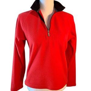Marker size small half zip fleece shirt